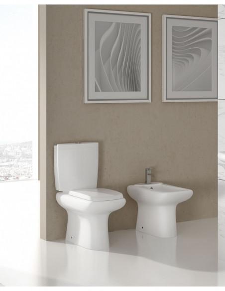 WC Amón avec reservoir abattant amortisseur duroplast. Système double et bidet