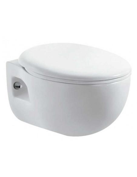 WC suspendu BATA avec reservoir abattant amortisseur duroplast. Drainage murale