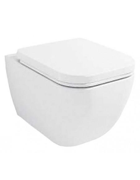 WC suspendu TUTU complet avec reservoir abattant amortisseur duroplast. Drainage murale