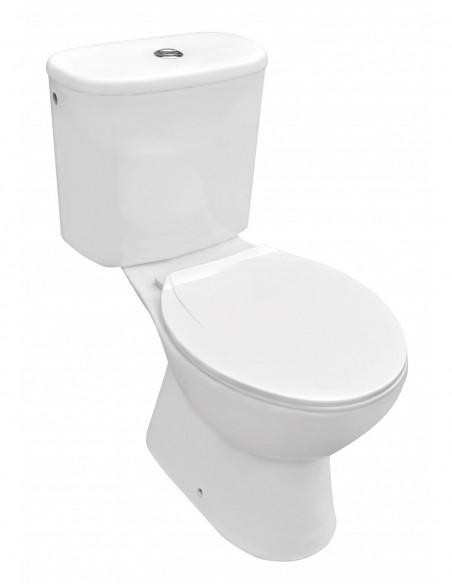 WC MANDULIS complet avec reservoir abattant ABS et sortiehorizontale (au mur)