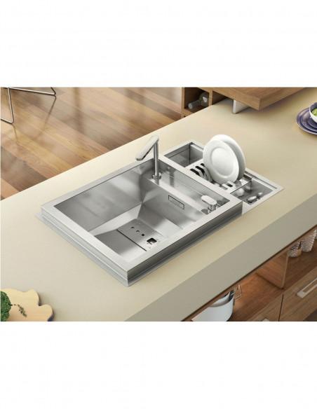 Évier de cuisine à un bac avec robinet intégré modèle Invictus par Rodi 2
