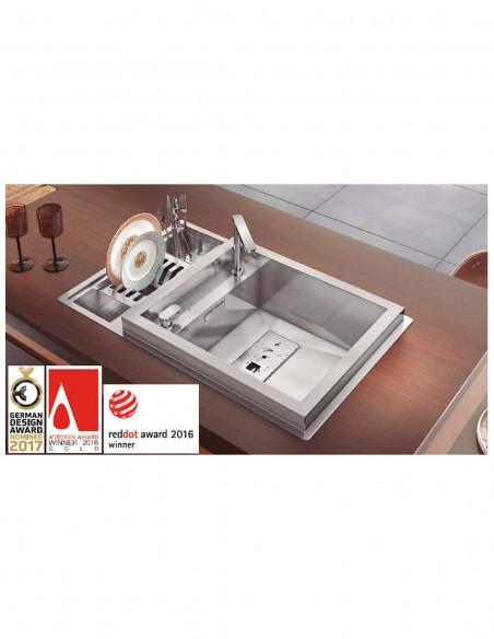 Évier de cuisine à un bac avec robinet intégré modèle Invictus par Rodi 3