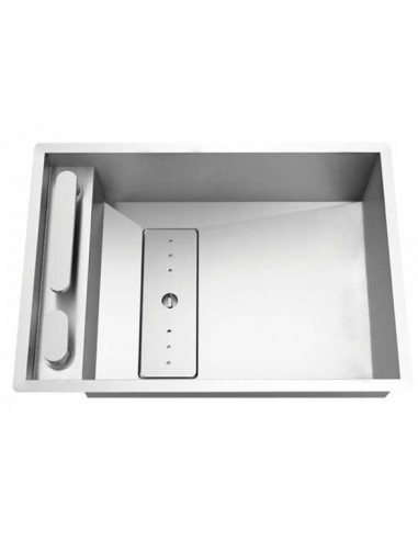 Rodi Invisible 50 évier de cuisine à un bac avec robinet intégré 62X44CM