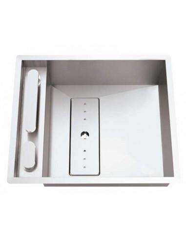 Rodi Invisible 40R évier de cuisine à un bac avec robinet intégré 52X44CM