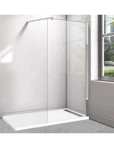 Receveur de douche avec Cadre 80x120 cm + Paroi de douche Walk-in 80 cm