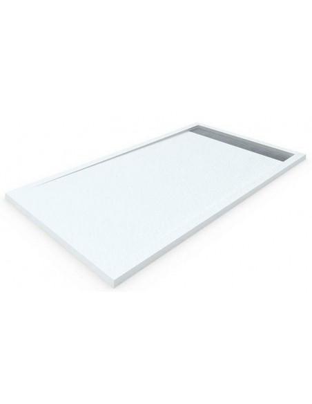 Receveur de douche en resine avec cadre blanc
