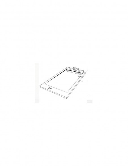 Receveur de douche en Résine avec cadre. Texture Ardoise. Schéma