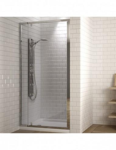 Paroi de douche frontale avec 1 porte abatable