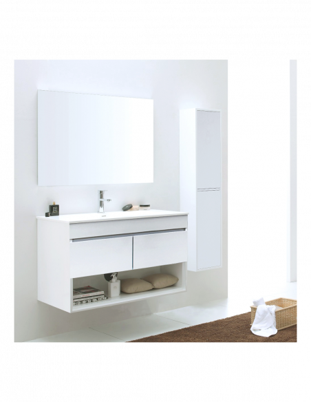Meuble de salle de bain suspendu HERA avec miroir