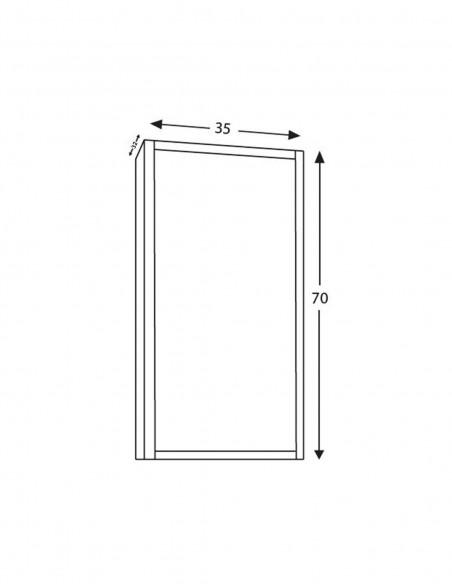 Meuble colonne pour salle de bain 35x32x130cm schéma