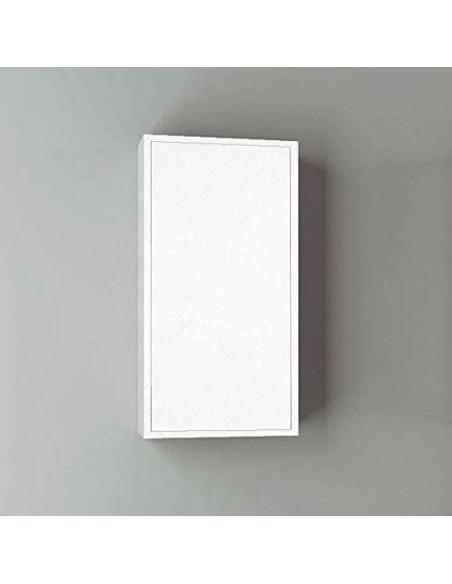 Meuble colonne pour salle de bain 35x32x130cm Blanc