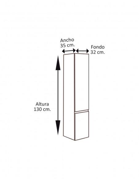 Meuble colonne auxiliaire pour salle de bain schéma