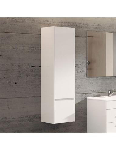 Meuble colonne auxiliaire pour salle de bain Blanc