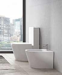 Toilettes et bidet ensemble